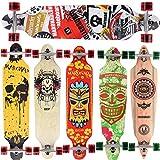 [Maronad.GCP] Longboard Skateboard drop through Race Cruiser ABEC-11 Skateboard 104x24cm Streetsurfer skaten SAT